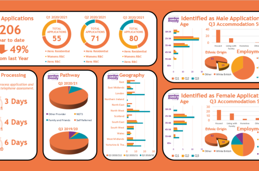 Gordon Moody Pie chart details -Gordon Moody